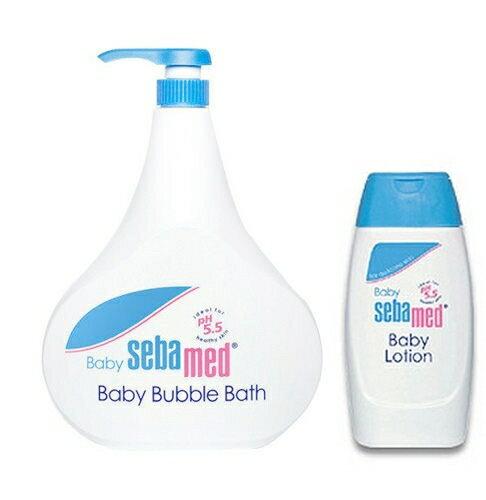 【施巴】嬰兒泡泡浴露 1000ml+嬰兒潤膚乳液 200ml
