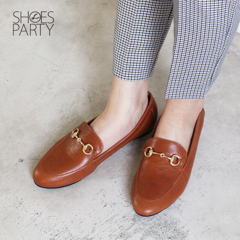 【C2-18129L】真皮鍊條樂福鞋_Shoes Party 3