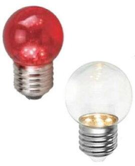 LED 燈泡★LED E27 0.5W 圓頭 小夜燈 清光/紅光★永旭照明2C6-DH-A%-LED