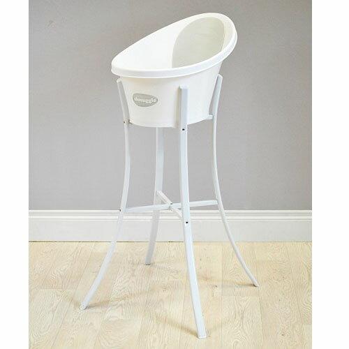 一個人輕鬆幫寶寶洗澡英國Shnuggle 月亮澡盆+澡盆架(S2新款,可收折) (台灣總代理公司貨) 1