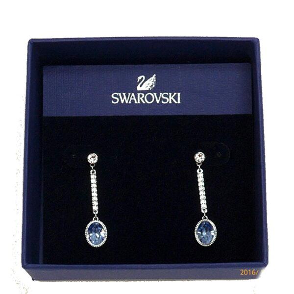 Swarovski5036778淡藍水晶垂墜耳環禮盒組