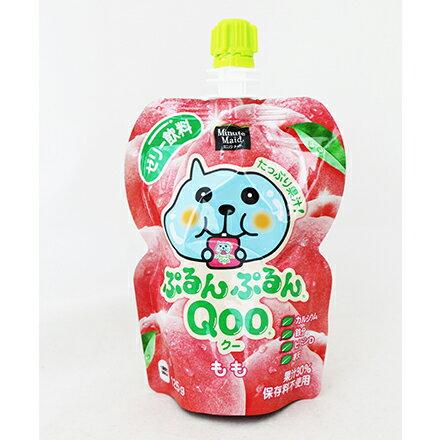 [敵富朗超市]Qoo果凍飲便利包-水蜜桃(125g) 0