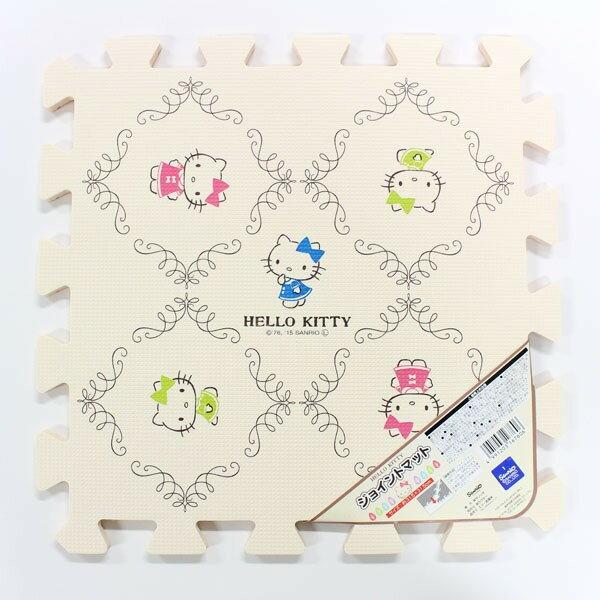 X射線【C167606】Hello Kitty 巧拼地墊(5入),凱蒂貓/腳踏墊/地毯/止滑墊/坐墊/椅墊