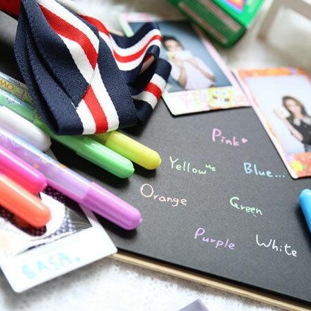 繽紛彩虹水粉筆 7支一組 糖果色 塗鴉筆 DIY 拍立得底片 相本 相簿 手作 MINI 7S 25 50S 8【B060010】