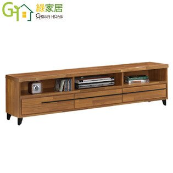 【綠家居】艾歐多時尚6尺柚木紋三抽電視櫃視聽櫃
