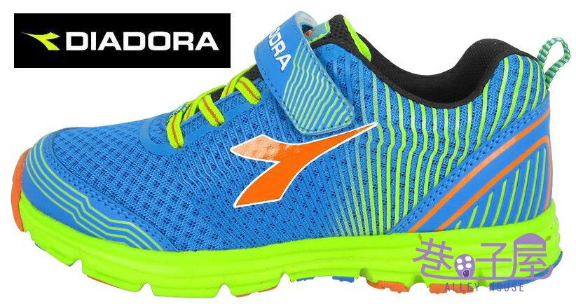 【巷子屋】義大利國寶鞋-DIADORA迪亞多納 男童無縫膠印輕量慢跑鞋 190g [3036] 藍 超值價$693