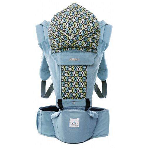 Elbini & co優寶兒 - 多功能嬰兒坐墊式背巾 (藍色) 韓國原裝進口 0