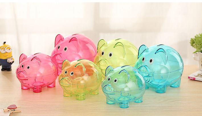【省錢博士】(小) 小豬存錢罐 / 透明儲錢罐 / 創意卡通儲蓄罐 39元 - 限時優惠好康折扣