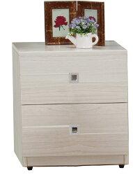 【尚品家具】JF-060-2 克里斯雪杉白床頭櫃