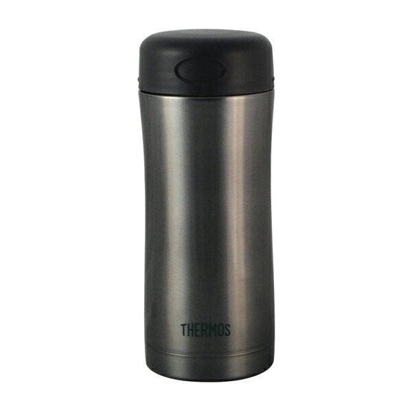 【THERMOS膳魔師】0.4L不鏽鋼真空保溫杯 JCG-400-CGY(銀灰色)