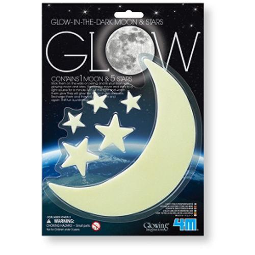 【4M 創意 DIY】Glow moon & Stars 螢光月亮&星星貼片