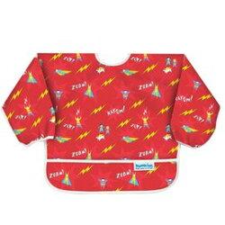 【淘氣寶寶】【美國Bumkins】小童(6-24月)長袖防水圍兜-小超人 BKSU-400【保證公司貨】