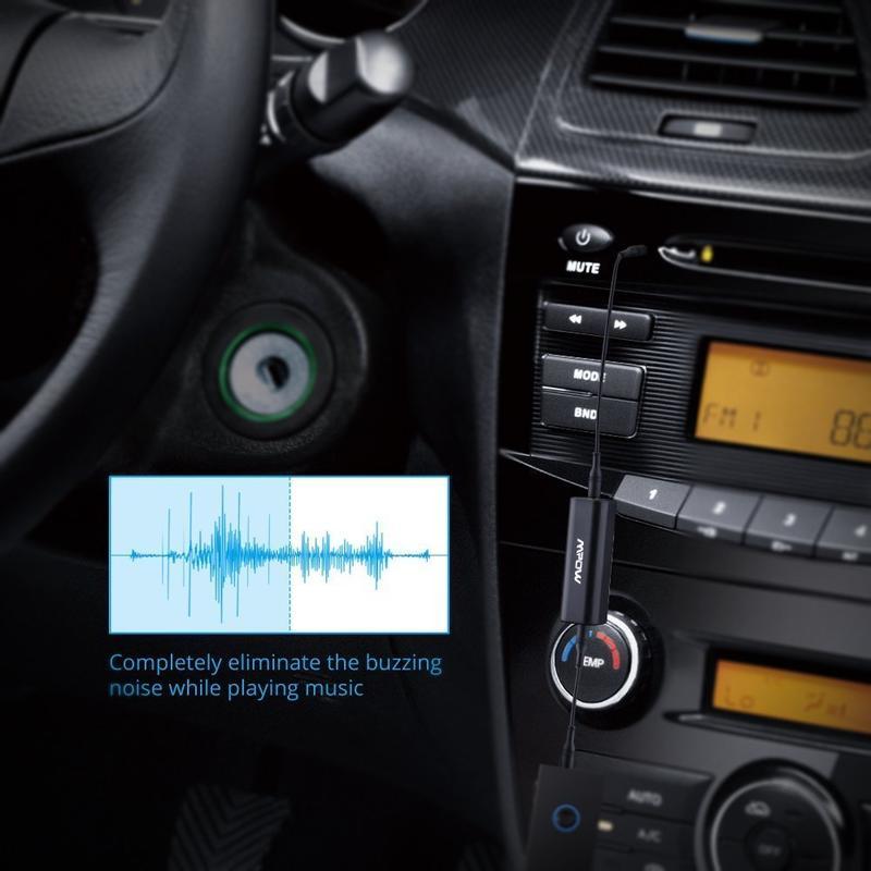 美國mpow濾波器 汽車音源孔雜音過濾 ,家電音響電波過濾 汽車音響 3.5mm 接地