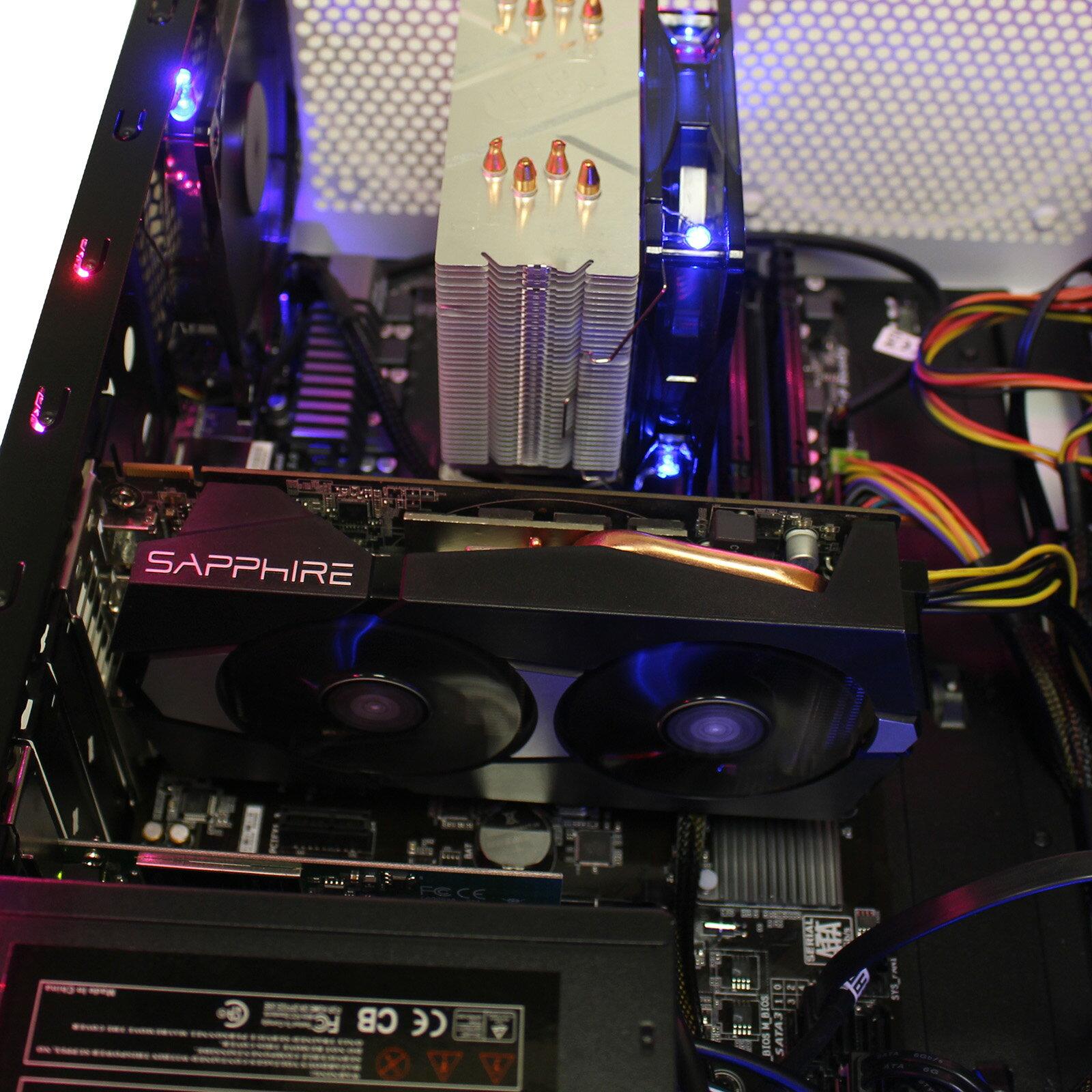 Custom RGB ThermalTake Gaming PC AMD 6-Core 3 5GHz AMD R9 270 2GB GDDR5  HDMI 16GB RAM 256GB SSD 2TB HD DVDRW WiFi Windows 10 Pro