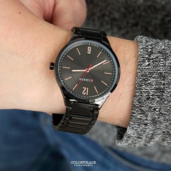 手錶 簡約輕薄不鏽鋼腕錶【NE2019】柒彩年代