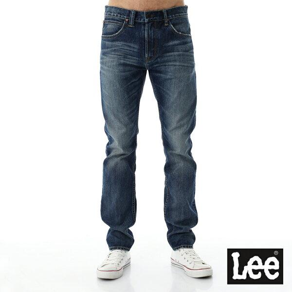 Lee Jeans tw:Lee707牛仔褲101+707中腰標準合身小直筒牛仔褲-男款-刷白-藍色【單筆消費滿1000元全會員結帳輸入序號『CNY100』↘折100