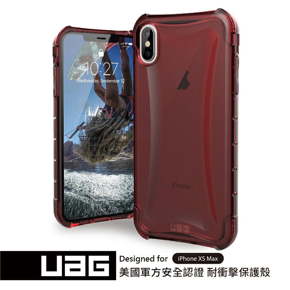 UAG iPhone XS Max 耐衝擊全透保護殼-透紅 (下單贈Riivan鋼化玻璃抗油汙抗刮保護貼)