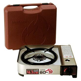 日本製 岩谷 Iwatani 4.1KW 防風防爆卡式瓦斯爐 磁式瓦斯爐 單口爐含收納盒 磁吸式 CB-AH-41 日本進口正版代購現貨 907388