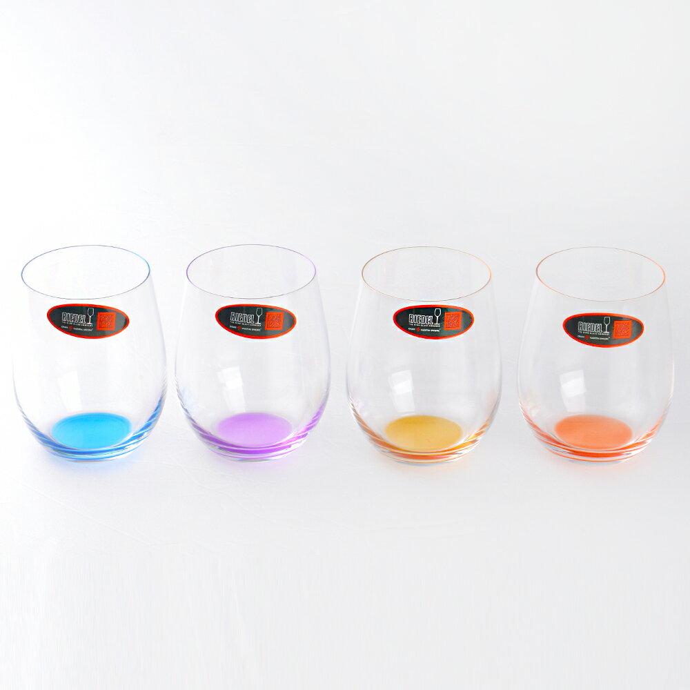 【奧地利Riedel】O系列 HAPPY O 彩色水晶杯 四入組 水杯 酒杯 (橙 / 黃 / 紫 / 藍)(Riedel酒杯) 2