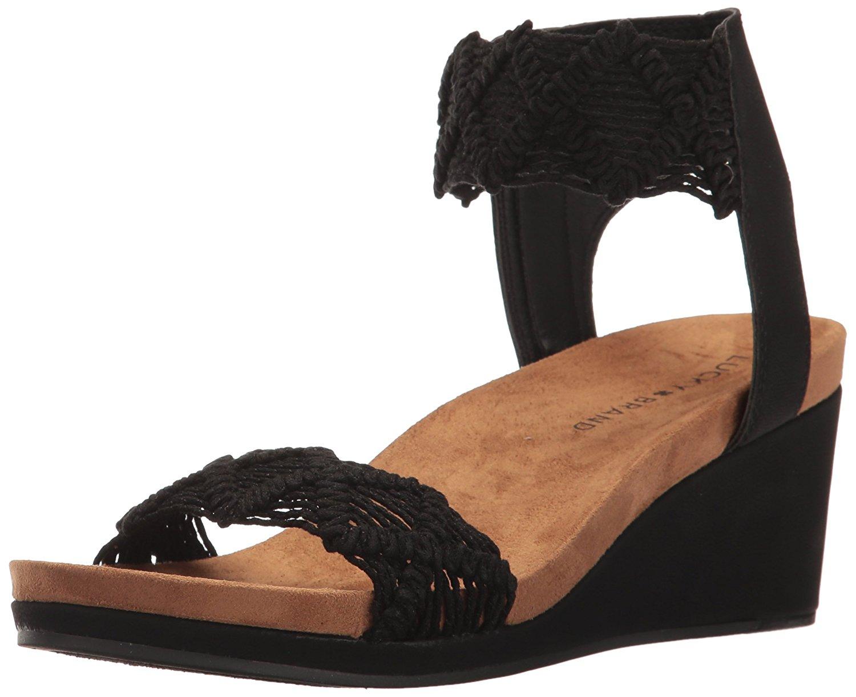 00fc6d961ac Lucky Brand Womens Kierlo Open Toe Casual Platform Sandals