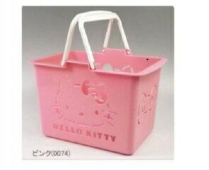 現貨 日本帶回 三麗鷗 HELLO KITTY粉色小朋友玩具提籃 迷你菜籃 日本製