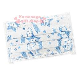 〔小禮堂〕台灣 佳美  新幹線 兒童平面不織布口罩《5枚入.白.星星》感冒對策用品