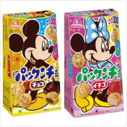 日本 森永 迪士尼 巧克力夾心 草莓夾心 巧克力餅乾 草莓餅乾 夾心餅乾 _櫻花寶寶