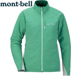 Mont-Bell 風衣外套/登山外套 防潑水保暖防風 Light Shell 女款 1106558 SFGN青綠