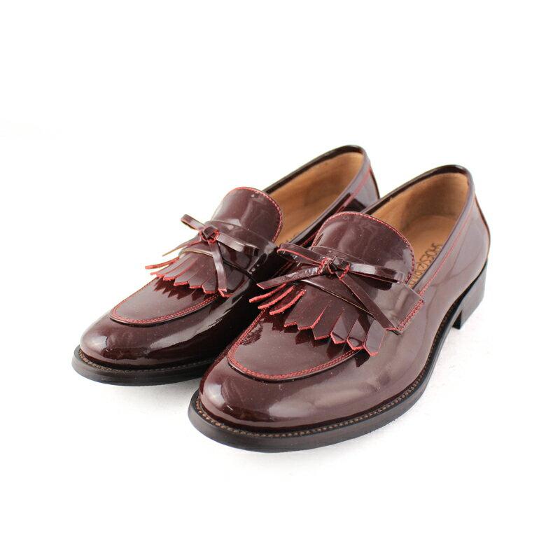 馬上出貨【F2-17912L】真皮鏡面流蘇樂福鞋_Shoes Party 4