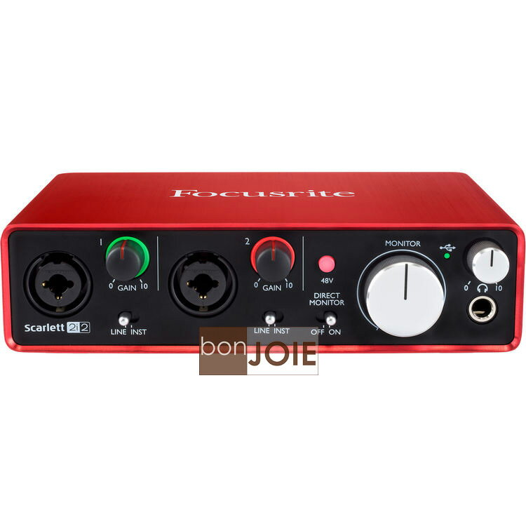 <br/><br/>  ::bonJOIE:: 美國進口 第二代 Focusrite Scarlett 2i2 (2nd Gen) USB 錄音介面 (全新盒裝) 2in/2out Audio Interface 錄音盒 錄音卡<br/><br/>