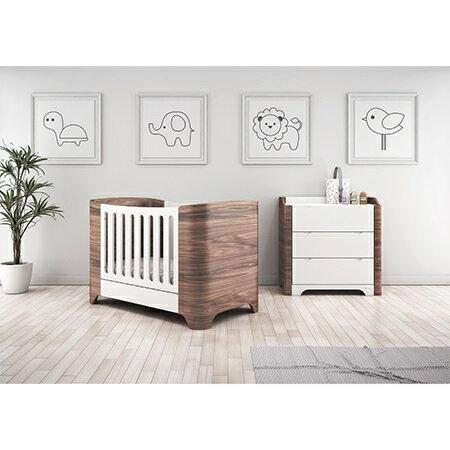 【贈乳膠床墊+泡棉床墊】希臘【Casababy】Harmony 三合一成長嬰兒床 - 深咖啡色 1