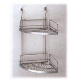 不銹鋼雙層轉角架KD雙層牆腳架廚衛兩用不鏽鋼線架