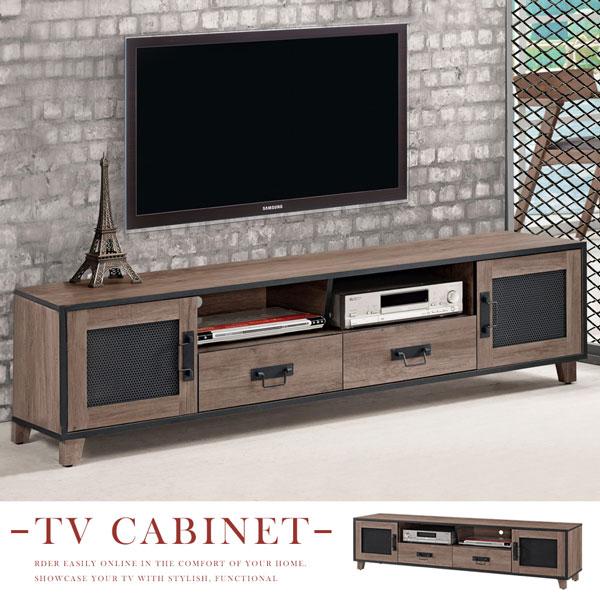 電視櫃《Yostyle》山姆工業風6尺電視櫃視聽櫃收納櫃置物櫃客廳收納
