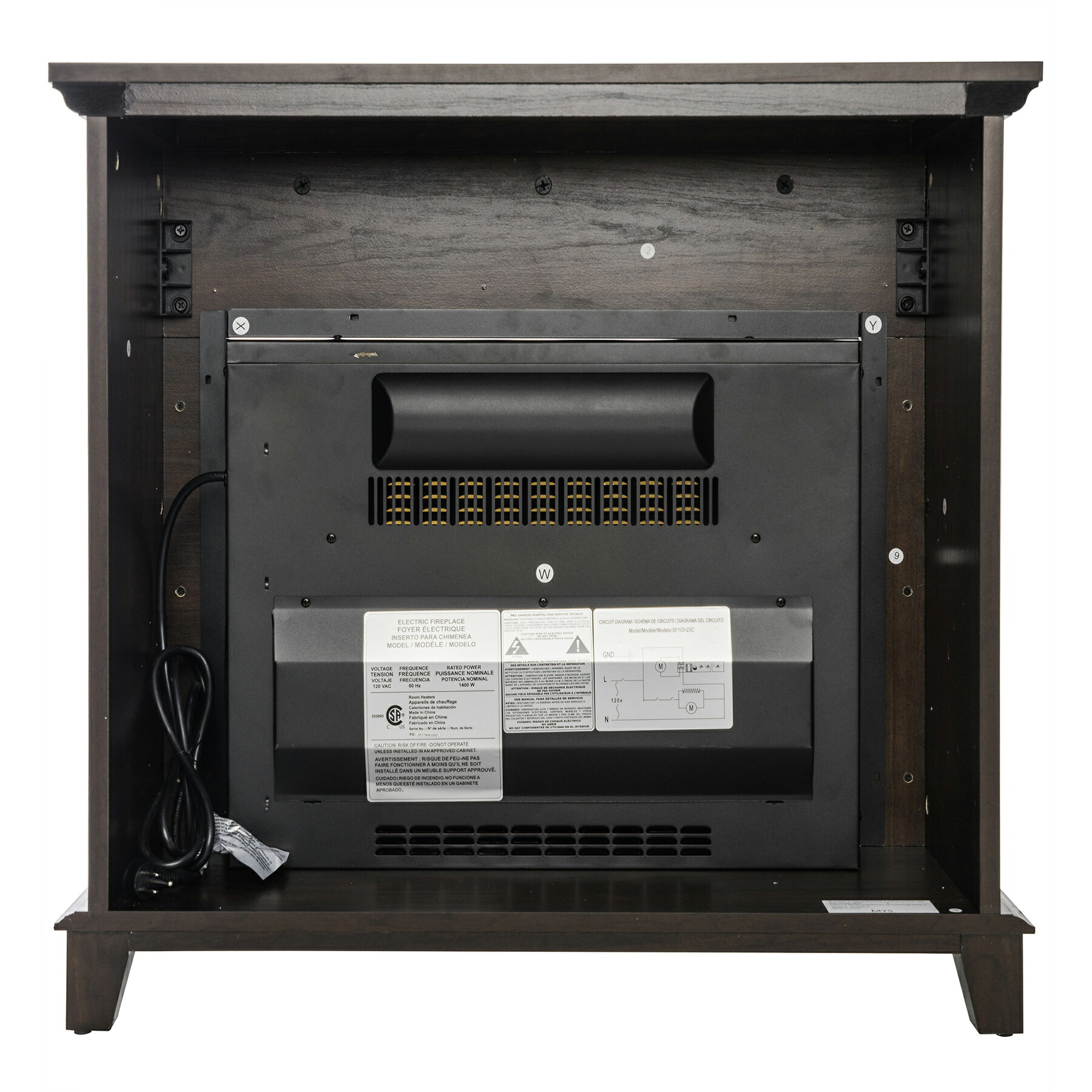 "AKDY 27"" Freestanding Wooden Mantel Electric Fireplace Stove Heater 5"