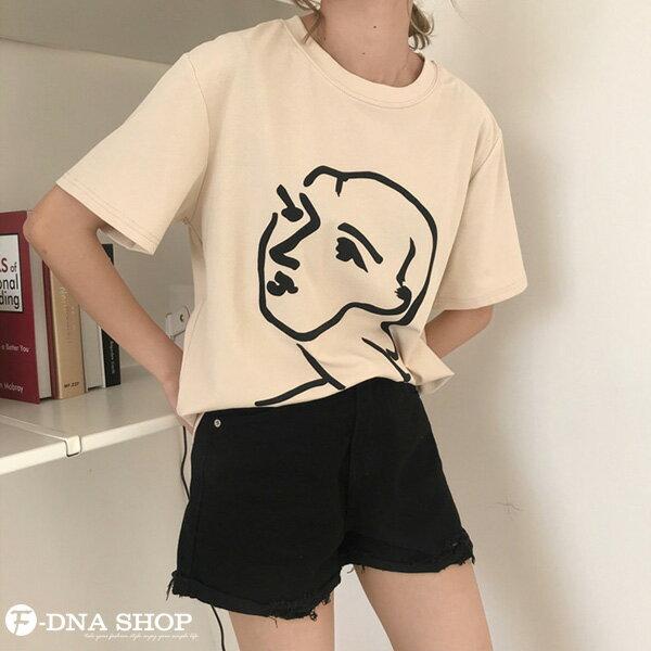 F-DNA★極簡印象派女王圓領短袖上衣T恤(2色-均碼)【ET12701】 4
