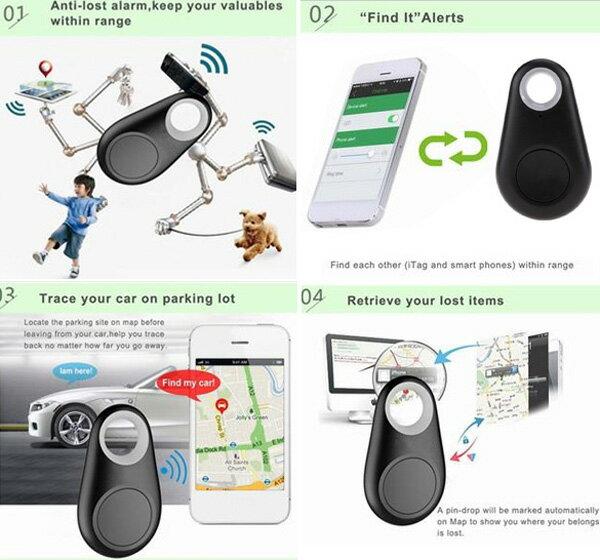 Bluetooth Tracer GPS Locator Wallet Key Pet Dog Tracker 1