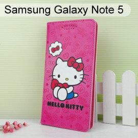 HelloKitty彩繪皮套[可愛]SamsungGalaxyNote5N9208【三麗鷗正版】