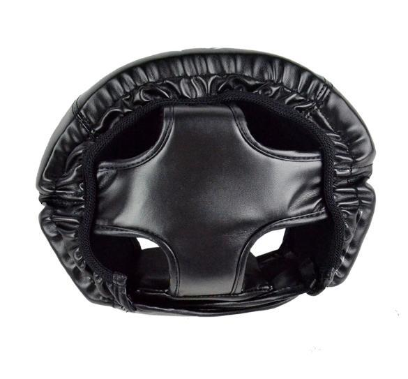 Headgear Head Guard Training Helmet Kick Boxing Protect Gear Black 4