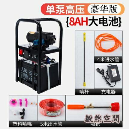 農用高壓小型多功能手提式電動噴霧器新式雙泵充電打藥智能噴霧機