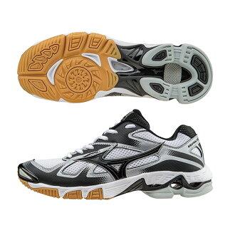 WAVE BOLT 5 高避震排球鞋 V1GB166009(白X黑X藍)S【美津濃MIZUNO】