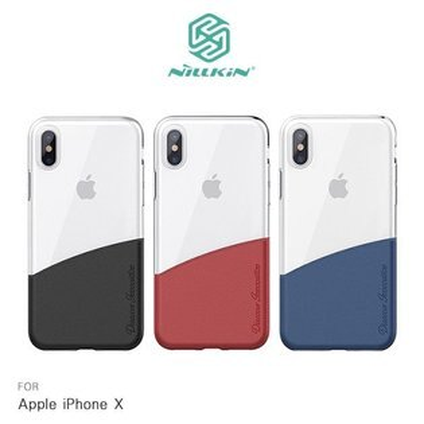 NILLKINAppleiPhoneX紛彩拼接手機殼手機套保護套手機殼半覆式