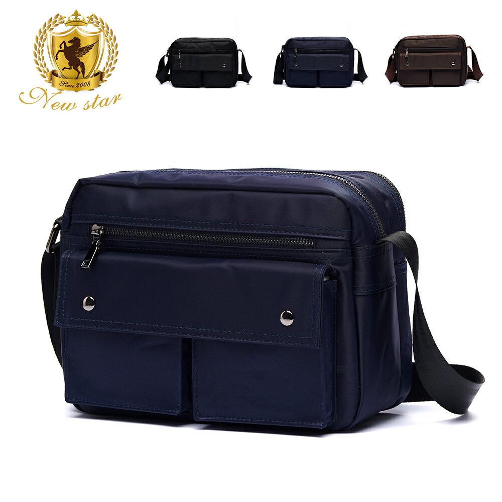 日系防水側背包包 升級版  (機能 雙口袋 雙層 斜背包 porter風 NEW STAR BL89 0