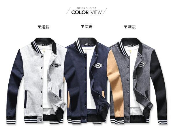☆BOY-2☆ 【PPK88025】美式休閒Vesti刷毛棒球外套 2