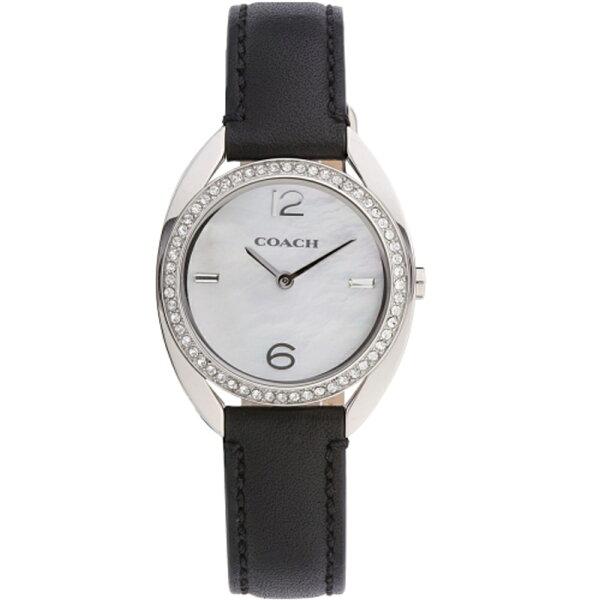 COACH氣質典雅時尚水鑽腕錶銀14502029