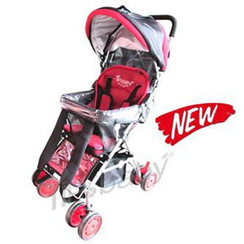 【奇買親子購物網】878E2 YIP-baby 五點式多功能揹架推車(紅色)