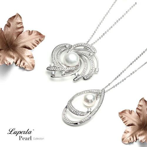 大東山珠寶 燦若繁星 純銀晶鑽珍珠項鍊 4