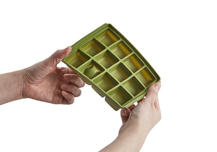 【三入特價$799】Mathos Loreley萱之愛 - 矽膠副食品分裝盒 50g / 6格 海軍藍 6