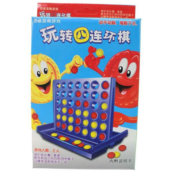 中四連棋815-01四子棋(中文)一個入{促50}連環棋思維策略遊戲兒童益智玩具~鑫