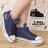 格子舖*【AAB0105】時尚百搭基本款星星條紋牛仔 綁帶4CM增高厚底高筒帆布鞋 2色 0