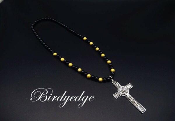 BIRDYEDGE全球限量款耶穌十字高磅數項鍊聖母耶穌十字珠項鍊免運優惠中